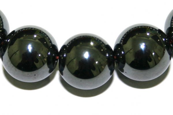 10mm Hematite Beads - 1.5mm Hole Size - 40 pces